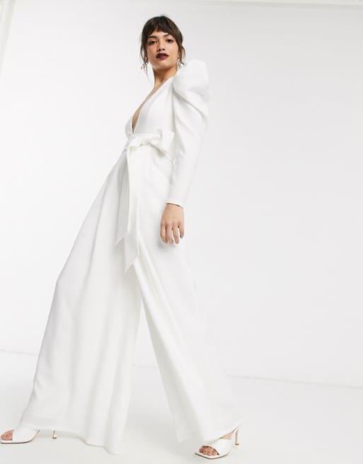 combinaison de mariage blanche pour mariée