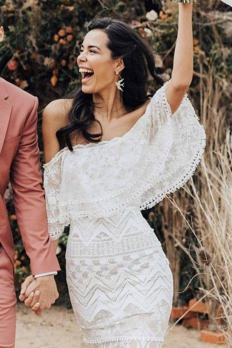 robe de mariée en ligne off shoulder