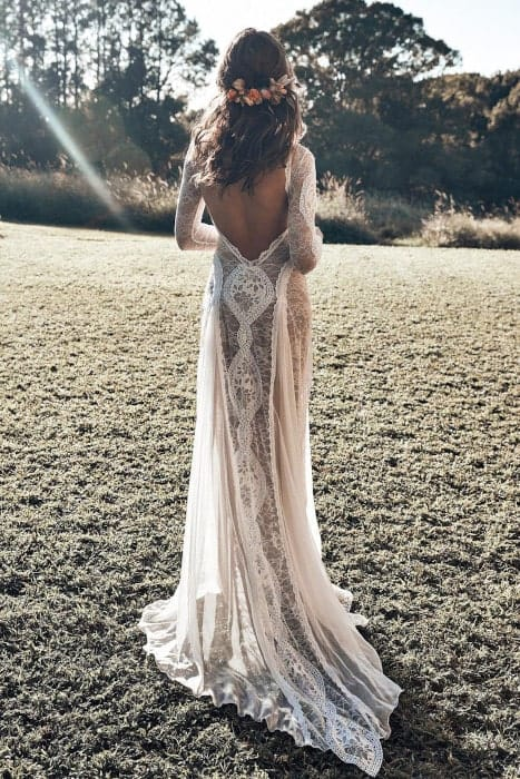 robe de mariée bohème dos nu