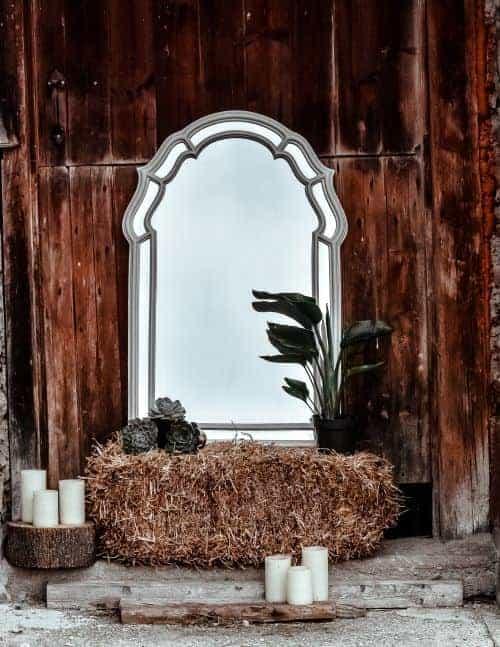 botte de paille décoration pour mariage thème western