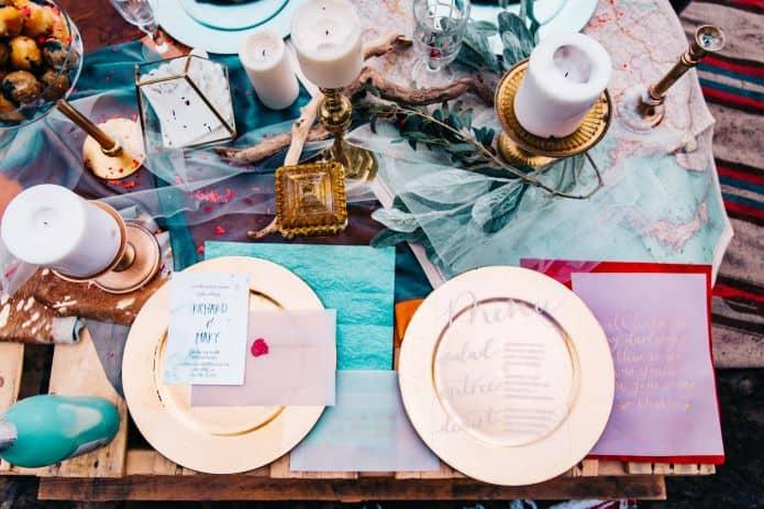décoration de table pour mariage fantaisie