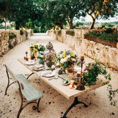 table de mariage inspiration thème italien