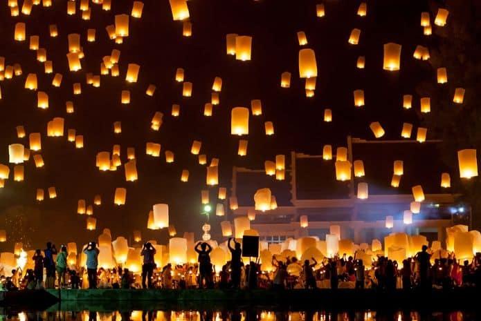 animation de mariage lanternes volantes