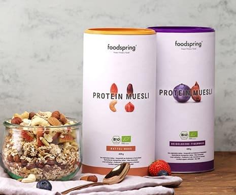 2 pots muesli protéiné foodspring pour perdre du poids