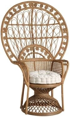 fauteuil en rotin bohème trône pour mariage