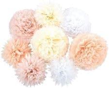 fleurs de papier de soie pour décoration de mariage sur amazon