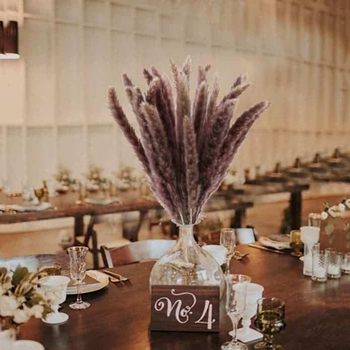fleur de pampa amazon pour décoration mariage