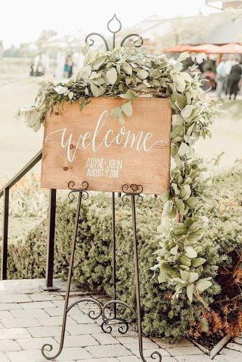 panneau d'accueil de mariage sur amazon