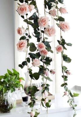 décoration de mariage guirlande de fausses roses sur amazon