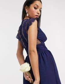 robe courte bleu roy