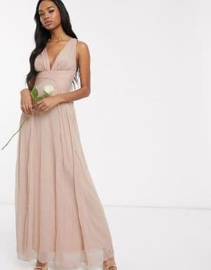robe de demoiselle d'honneur rose pastel