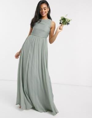 robe de demoiselle d'honneur sauge