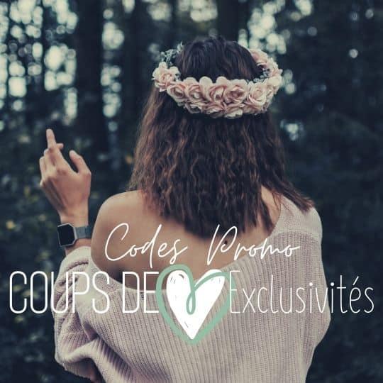 femme avec couronne de fleur coup de coeur code promo exclusivités