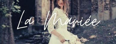 """femme portant une robe de mariée princesse """"la mariée"""""""