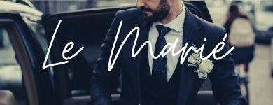 """homme portant un costume de marié """"le marié"""""""
