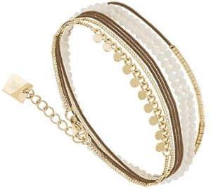 bracelet multi tour doré