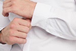 chemise blanche ajusté slim avec texture