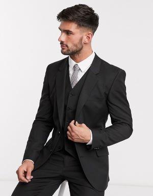 costume de marié noir 3 pièces