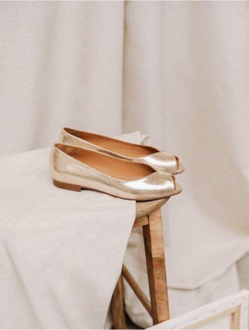 ballerines dorée pour mariage