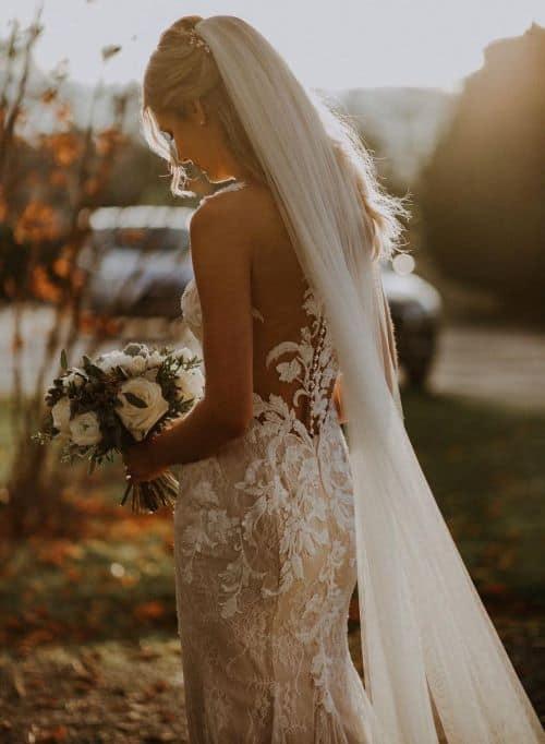 accessoire de mariée voile en tulle