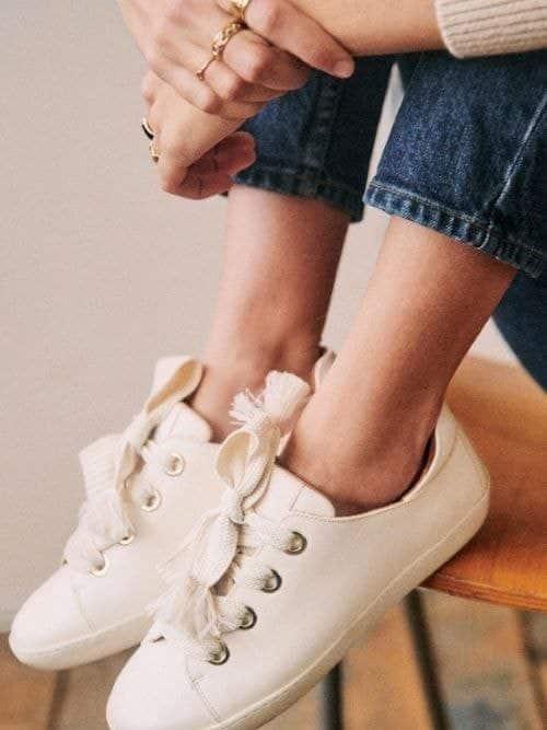 sneakers blanches pour mariée