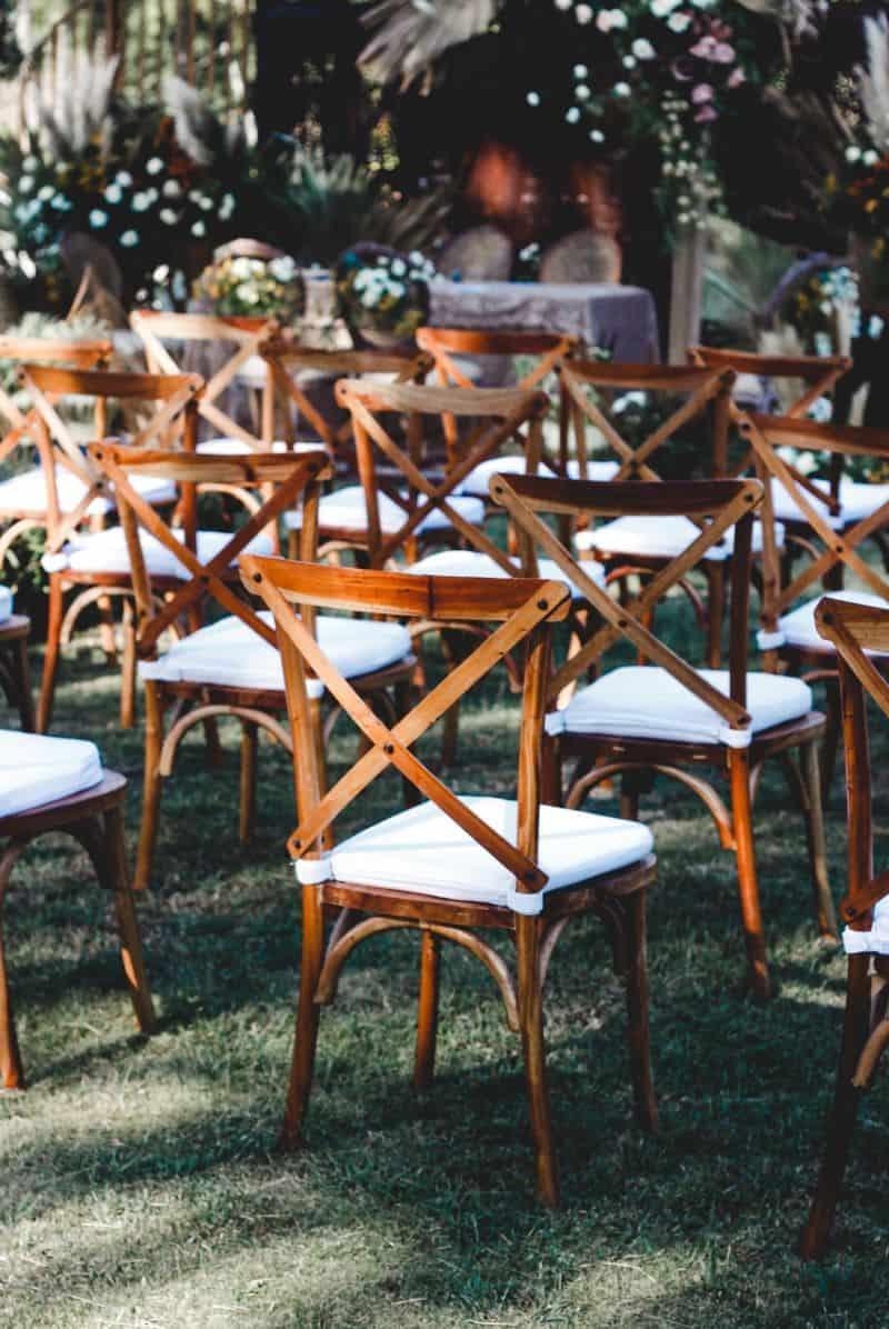chaise d'audience pour invités de cérémonie laique