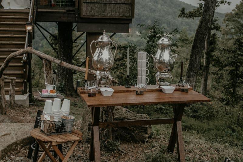 bar à boisson extérieur pour mariage laique