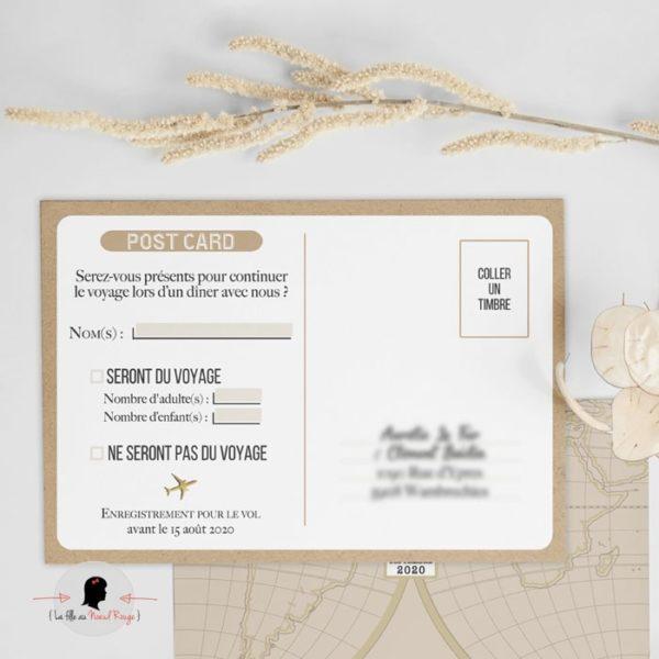 carton réponse de mariage